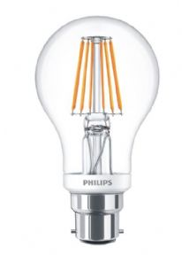 Classic filament LED Lamp | Dimmable 60W Equivalent |Bayonet B22 | PHILIPS